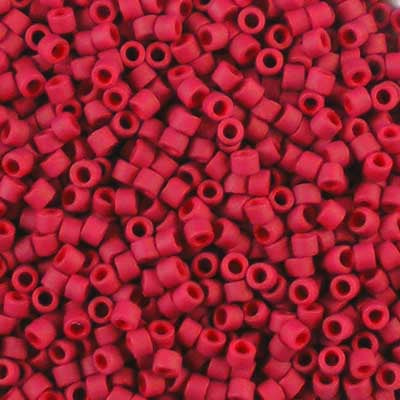 DB-0796 Dyed Semi-Frosted Dark Red - Miyuki 11/0 Delica Beads
