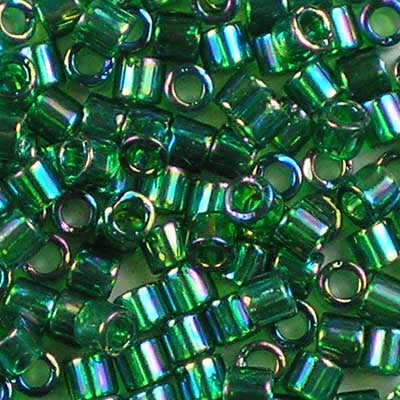 DBL-0152 Transparent Green AB - Miyuki 8/0 Double Delica Beads