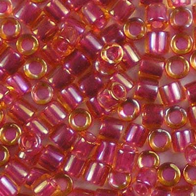 DBL-0062 Light Cranberry-Lined Topaz Lustre - Miyuki 8/0 Double Delica Beads