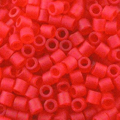 DBL-0745 Matte Transparent Red Orange - Miyuki 8/0 Double Delica Beads