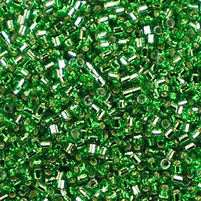 DBS-0046 Silver-Lined Green - Miyuki 15/0 Delica Beads