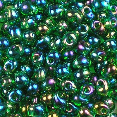 DP-0179 Transparent Green AB - Miyuki 3.4mm Drop Beads