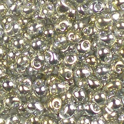 DP-1881 Silver-Grey Gold Lustre - Miyuki 3.4mm Drop Beads