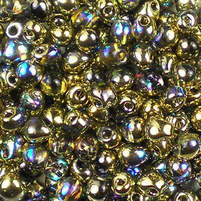DP-55023 Crystal Rainbow Golden Miyuki 3.4mm Drop Beads