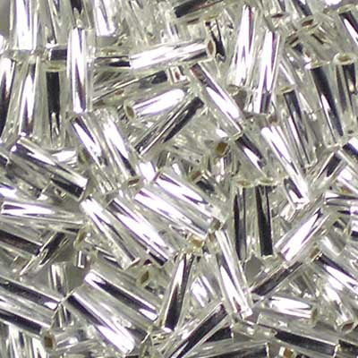 TW206-0001 Silver-Lined Crystal Miyuki 6mm Twisted Bugle Beads