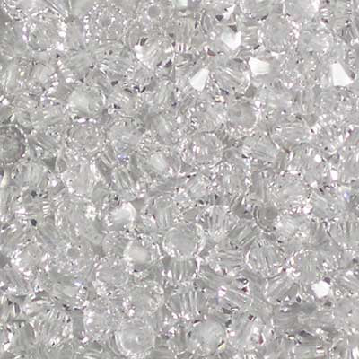 Crystal - 3mm Preciosa Czech Glass Bicone Beads