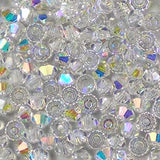 Crystal AB - 3mm Preciosa Czech Glass Bicone Beads