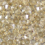 Crystal Honey - 3mm Preciosa Czech Glass Bicone Beads