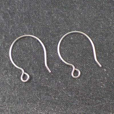 1 pair 17mm Sterling Silver Circle-Hook Ear Wires