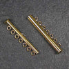 Seven-Strand Gold-Plated Tube Slide Clasp