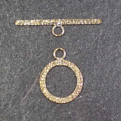 14kt Gold-Filled Textured Toggle Clasp and Bar 14.5mm