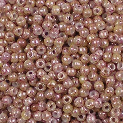 11-1201 Marbled Sandy Pink Lustre - Toho 11/0 Seed Beads