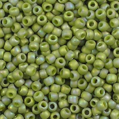 11-2632F Semi-Glazed Honeydew Rainbow - Toho 11/0 Seed Beads
