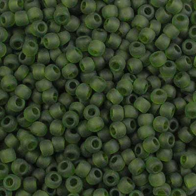 11-0940F Frosted Olivine - Toho 11/0 Seed Beads