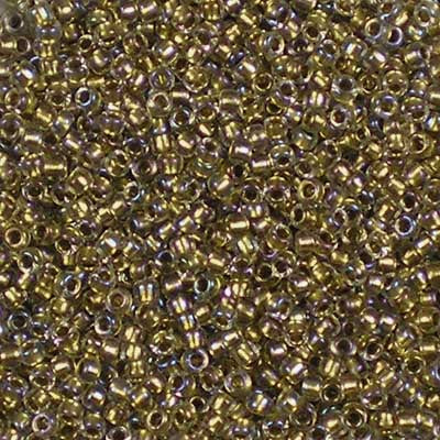 15-0262 Gold-Lined Crystal - Toho 15/0 Seed Beads