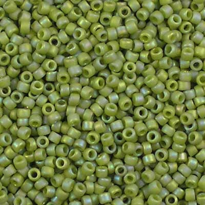 15-2632F Semi-Glazed Honeydew Rainbow - Toho 15/0 Seed Beads