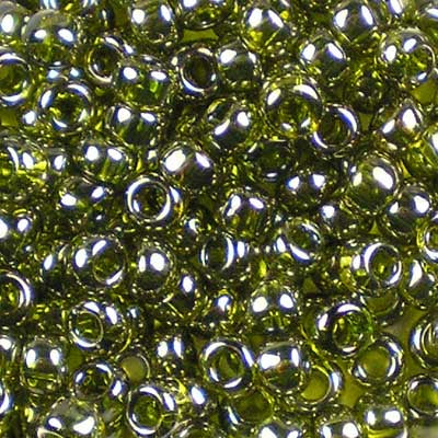 6-0457 Gold-Lustered Green Tea - Toho 6/0 Seed Beads
