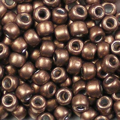 6-YPS19 ColorTrends: Metallic Potter's Clay - Toho 6/0 Seed Beads