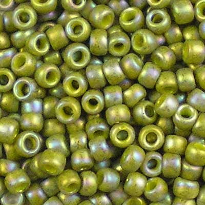 8-2631F Semi-Glazed Olive Rainbow - Toho 8/0 Seed Beads