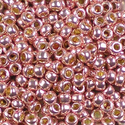 8-PF0552 Permanent Finish Galvanized Blush - Toho 8/0 Seed Beads
