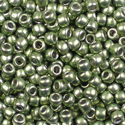 8-YPS83 ColorTrends: Metallic Greenery - Toho 8/0 Seed Beads
