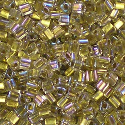 TG11-0262 Gold-Lined Crystal - Toho 11/0 Triangle Beads