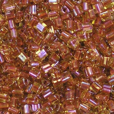 TG11-0951 Red-Lined Jonquil - Toho 11/0 Triangle Beads