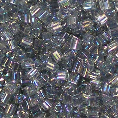 TG11-0176 Black Diamond Rainbow Toho 11/0 Triangle Beads