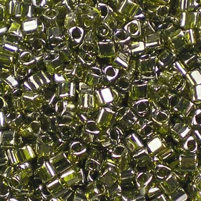 TG11-0457 Gold-Lustred Green Tea - Toho 11/0 Triangle Beads