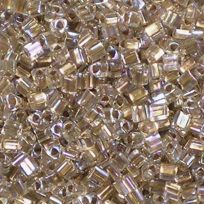TG11-0994 Gold-Lined Rainbow Crystal - Toho 11/0 Triangle Beads