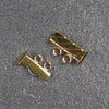 Two-Strand, Fluted, Rectangular Gold-Plated Tube Slide Clasp