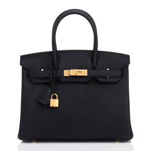 Black 30cm Birkin Togo Gold Hardware A Stamp
