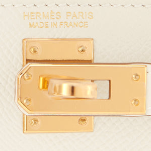 Hermes Craie Kelly 20cm Mini Off White Shoulder Bag