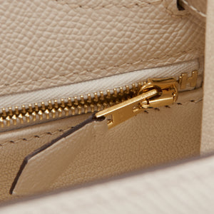 Hermes HSS Craie and Trench Kelly 28cm Epsom Sellier Permabrass