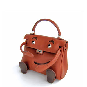 Limited Edition Noisette Leather Quelle Idole Kelly Doll Bag