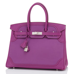 Hermes Anemone Ghillies Togo Swift 35cm Birkin Limited Edition