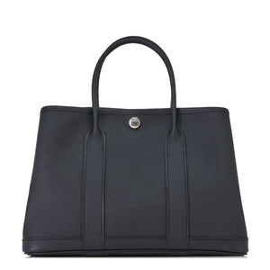 Hermes Black TPM Epsom Garden Party Tote Bag