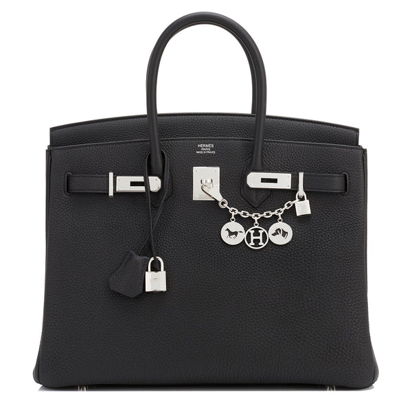 Hermes Black Togo 35cm Birkin Palladium Hardware Bag