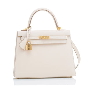 Hermes Craie 25cm Kelly Epsom Sellier Gold Hardware