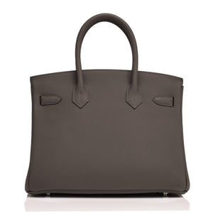 Hermes Ebene and Gold Camel Tan Verso Limited Edition VIP 30cm Togo Birkin