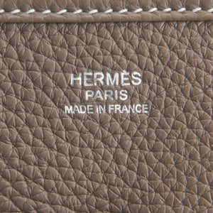 Hermes Etoupe Evelyne PM Messenger Bag