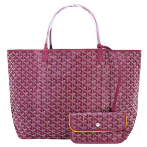 Goyard St Louis Tote Burgundy Chevron Bag GM