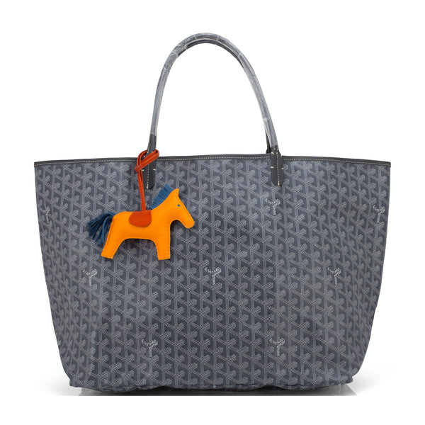 Goyard Grey St Louis Tote GM Chevron Bag