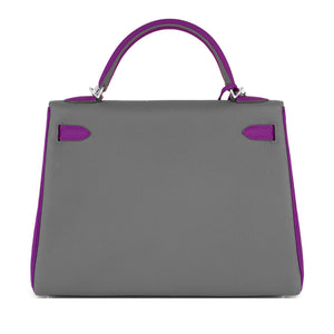 Hermes HSS Taupe and Anemone 32cm Togo Kelly Bag