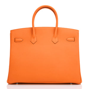 Hermes Orange Birkin 35cm Togo Palladium Hardware