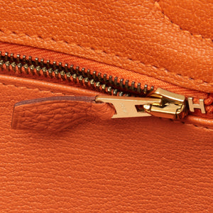 Hermes Orange Birkin 30cm Togo Gold Hardware