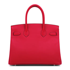Hermes Rouge Casaque 30cm Birkin Bag Epsom Palladium Hardware
