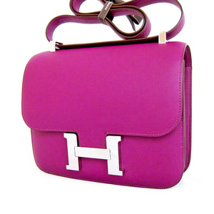 Hermes Anemone Constance MM Shoulder Palladium PHW Bag