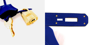 Hermes Blue Electric 30cm Epsom Birkin Gold Hardware GHW Electrifying!