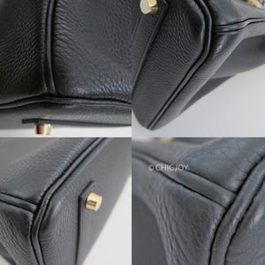 Hermes Black 35cm Togo Gold Hardware